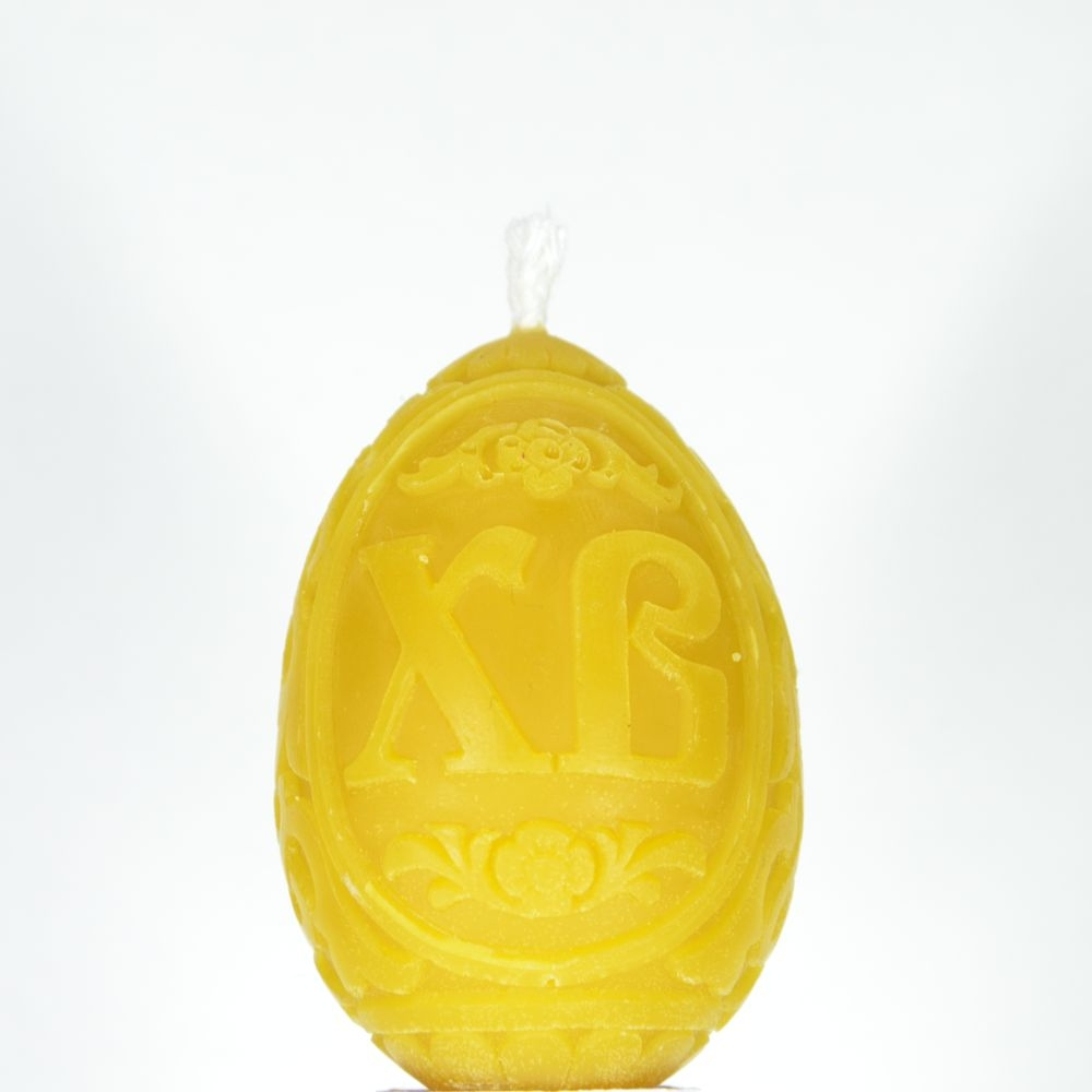 """Свеча восковая в прозрачной коробочке, яйцо """"Христос Воскресе 2"""""""