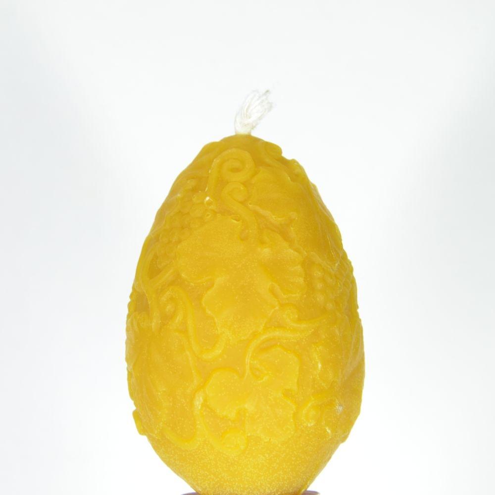 """Свеча восковая в прозрачной коробочке, яйцо """"лоза виноградная"""""""